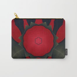 Red and Black Abstract Flower Carry-All Pouch