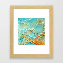 Onyx - blue and orange Framed Art Print