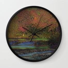 tree in autumn and colorful leaves Wall Clock