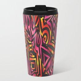 Gradient Notan Metal Travel Mug