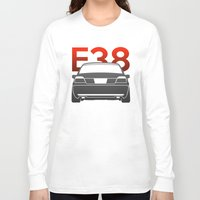bmw Long Sleeve T-shirts featuring BMW E38 by Vehicle