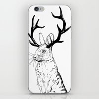 jackalope iPhone & iPod Skins featuring Jackalope by JChauvette