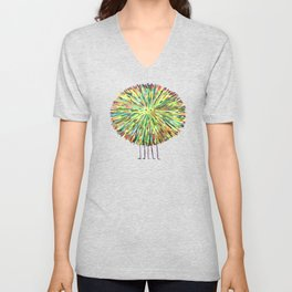 Poofy Splotch Unisex V-Neck