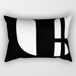 Hidden Letters. Baskerville U Rectangular Pillow