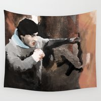 rocky Wall Tapestries featuring ROCKY by Erased Account