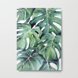 Abstract Monstera Deliciosa Painting 3.5 Metal Print