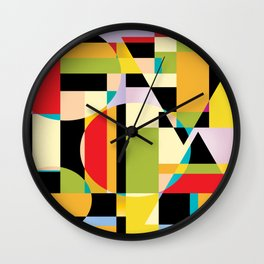 Geometric Abstraction Wall Clock