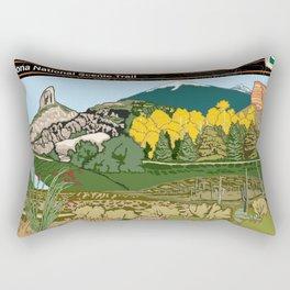 Vintage Poster - Arizona National Historic Trail (2018) Rectangular Pillow