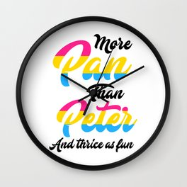 Gay Pride Parade LGBT Lesbian Gay Bi Trans Queer Pan Light Wall Clock