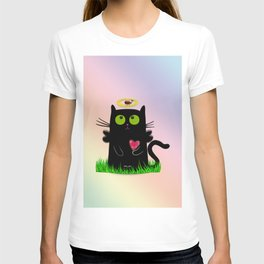 angel cat and ladybug T-shirt
