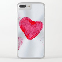 LOVE-ly Hearts Clear iPhone Case