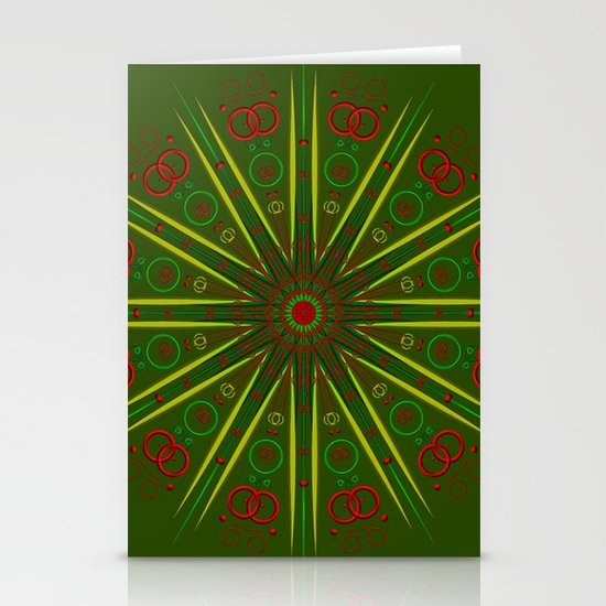Greens and Reds Stationery Cards