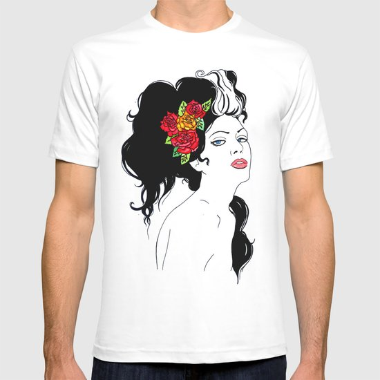 Girl with Roses T-shirt