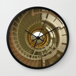 Gray's Harbor Lighthouse Stairwell Spiral Architecture Washington Nautical Coastal Wall Clock