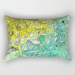 Water color 1 Rectangular Pillow