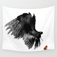wings Wall Tapestries featuring Wings by slabr