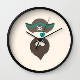 My little green Pirate Wall Clock