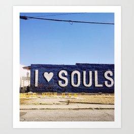 I <3 Souls Art Print