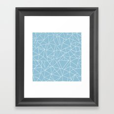 Abstraction Outline Sky Blue Framed Art Print