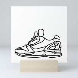 Sneakers Outline #1 Mini Art Print