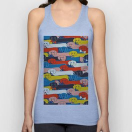 COLORED DOGS PATTERN 2 Unisex Tank Top