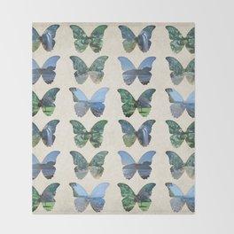 Butterfly Garden Throw Blanket