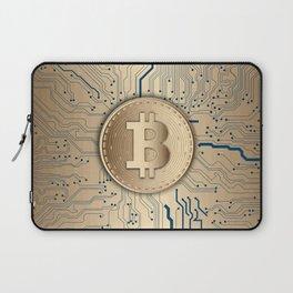 Bitcoin money gold Laptop Sleeve
