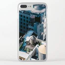 New York sky view Clear iPhone Case