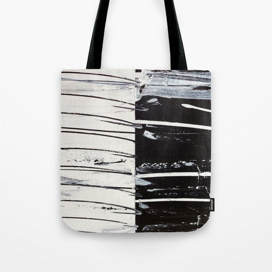 Black & White Close Up Tote Bag