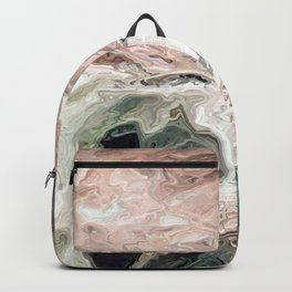 Halloween. A dead stump in a forest. Uncanny Backpack