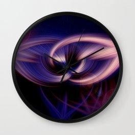 contorquens flamine robur twirls Wall Clock