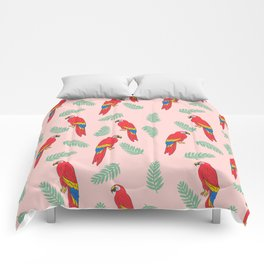 Macaw parrot tropical bird jungle animal nature pattern Comforters
