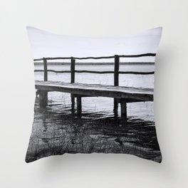 Bacalar Pier Throw Pillow