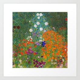 Flower Garden Bauerngarten Klimt Garden Floral Oil Painting Art Print
