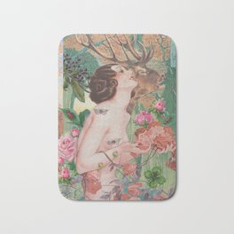 Oriental Rose Bath Mat