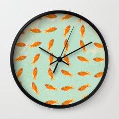 pattern goldfish Wall Clock