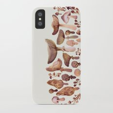 Watercolor Mushrooms iPhone X Slim Case