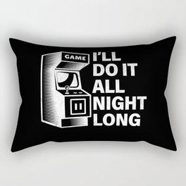 80s Video Game Arcade Machine Gamer Quote Gift Rectangular Pillow