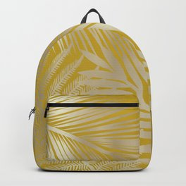Tropical Palm Leaves Yellow Backpack