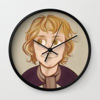 lotr Wall Clocks featuring Pippin by Blanca Limón