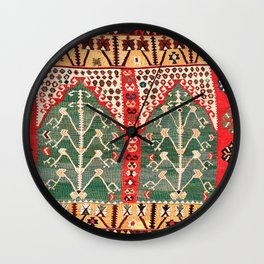 Saf Gümüshane Northeast Anatolian Kilim Print Wall Clock