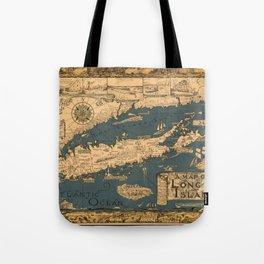Map of Long Island Tote Bag