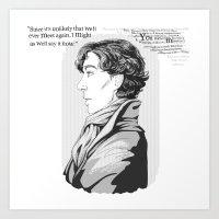 Words Left Unsaid Art Print