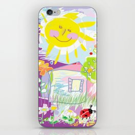 My happy world Doodle for children room Nursery home decor iPhone Skin