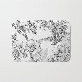 Moths & Camellias Bath Mat