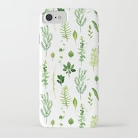 leaves iPhone & iPod Cases featuring Leaves by Vicky Webb