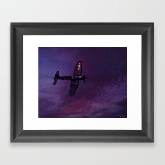Corsair At Dawn Framed Art Print