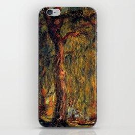 Claude Monet Weeping Willow 1919 iPhone Skin