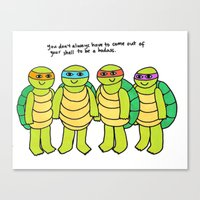teenage mutant ninja turtles Canvas Prints featuring Teenage Mutant Ninja Turtles by Tyler Feder