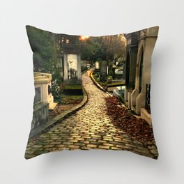 Pere Lachaise Cemetery Throw Pillow